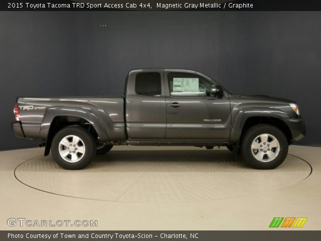 magnetic gray metallic 2015 toyota tacoma trd sport access cab 4x4 graphite interior. Black Bedroom Furniture Sets. Home Design Ideas