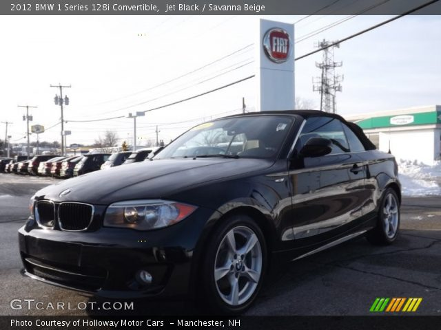 2012 BMW 1 Series 128i Convertible in Jet Black