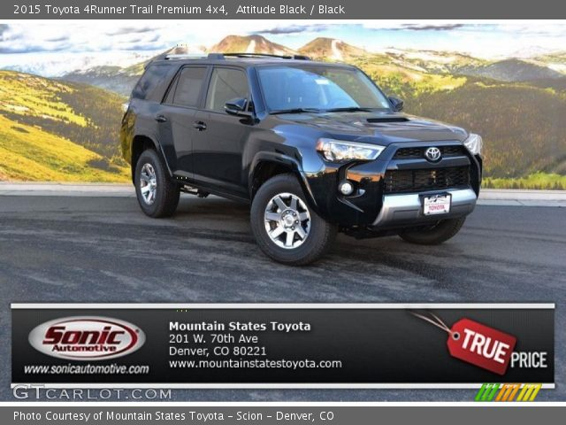 attitude black 2015 toyota 4runner trail premium 4x4 black interior vehicle. Black Bedroom Furniture Sets. Home Design Ideas
