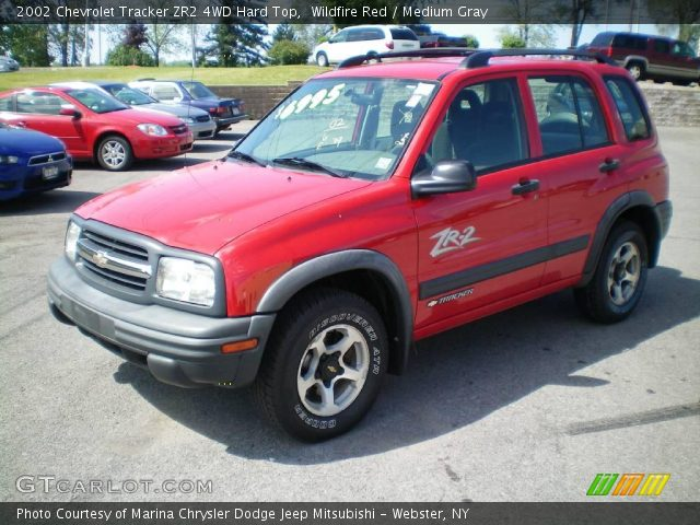 wildfire red 2002 chevrolet tracker zr2 4wd hard top. Black Bedroom Furniture Sets. Home Design Ideas