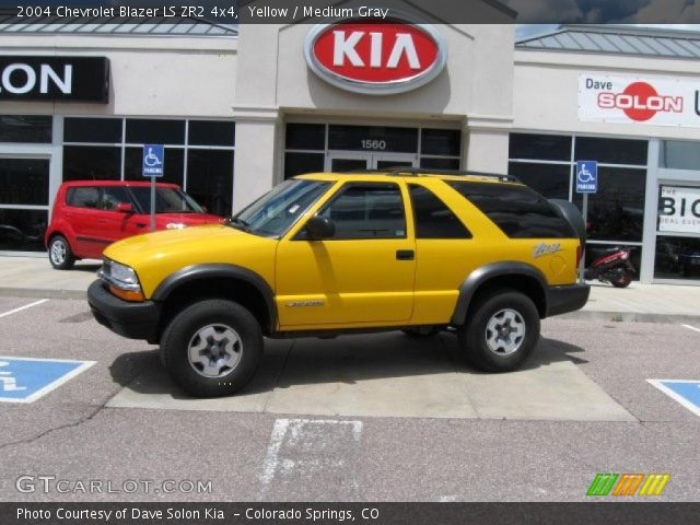 2004 Chevrolet Blazer LS ZR2 4x4 in Yellow