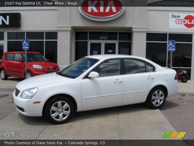 Clear White - 2007 Kia Optima LX - Beige Interior | GTCarLot.com ...