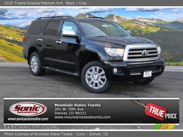 Black 2015 Toyota Sequoia Platinum 4x4 Gray Interior Vehicle Archive 101764503