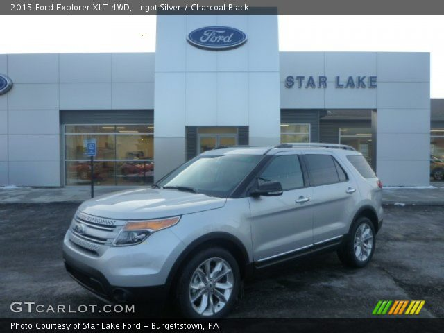ingot silver 2015 ford explorer xlt 4wd charcoal black interior