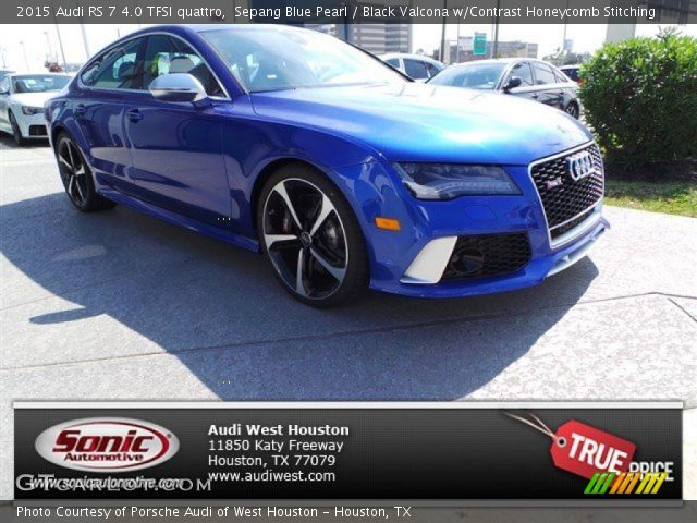2015 Audi RS 7 4.0 TFSI quattro in Sepang Blue Pearl