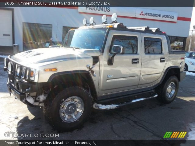 Desert Sand Metallic 2005 Hummer H2 Sut Ebony Black Interior