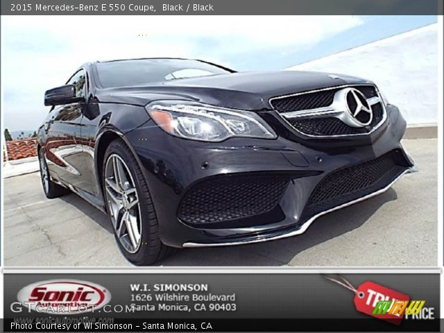 2015 Mercedes-Benz E 550 Coupe in Black