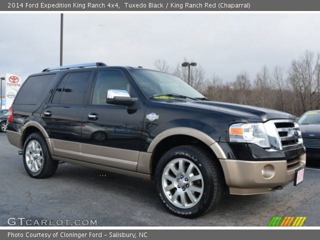 tuxedo black 2014 ford expedition king ranch 4x4 king ranch red chaparral interior. Black Bedroom Furniture Sets. Home Design Ideas