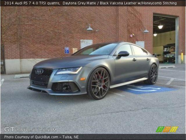 2014 Audi RS 7 4.0 TFSI quattro in Daytona Grey Matte
