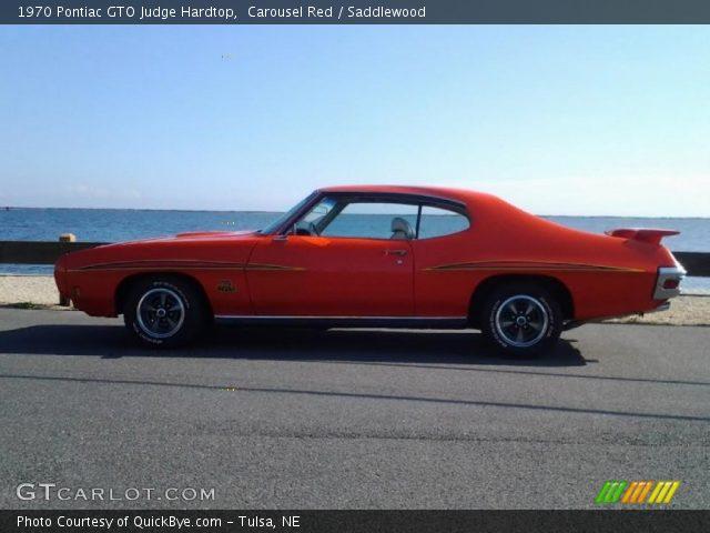 1970 Pontiac GTO Judge Hardtop in Carousel Red
