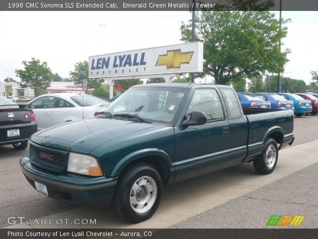 emerald green metallic 1998 gmc sonoma sls extended cab pewter interior. Black Bedroom Furniture Sets. Home Design Ideas