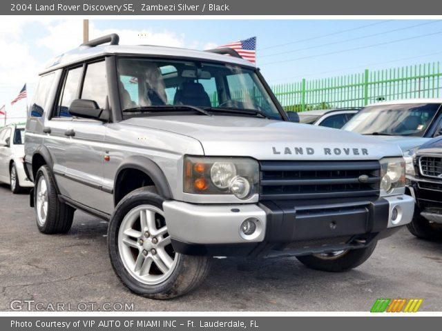 zambezi silver 2004 land rover discovery se black interior vehicle archive. Black Bedroom Furniture Sets. Home Design Ideas