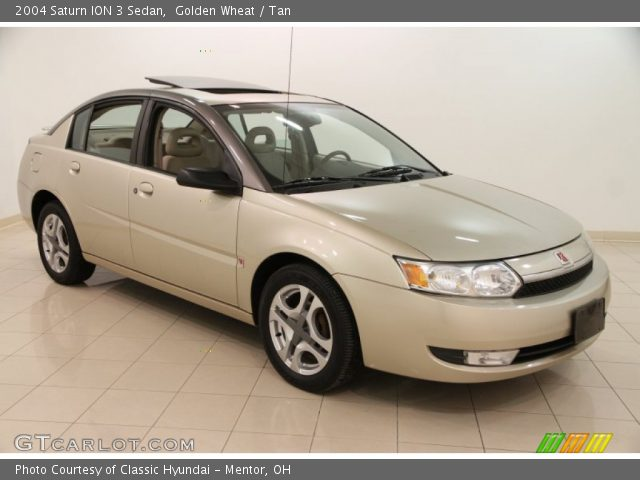 Golden Wheat 2004 Saturn Ion 3 Sedan Tan Interior Gtcarlot