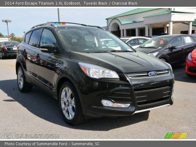tuxedo black 2014 ford escape titanium 1 6l ecoboost charcoal black interior. Black Bedroom Furniture Sets. Home Design Ideas