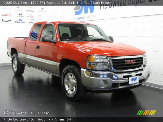 fire red 2006 gmc sierra 1500 z71 extended cab 4x4. Black Bedroom Furniture Sets. Home Design Ideas