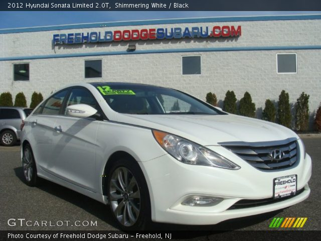 shimmering white 2012 hyundai sonata limited 2 0t black interior vehicle. Black Bedroom Furniture Sets. Home Design Ideas