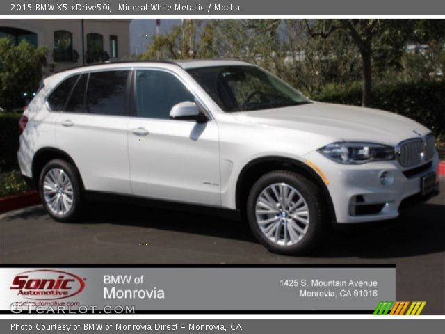 2015 BMW X5 XDrive50i In Mineral White Metallic