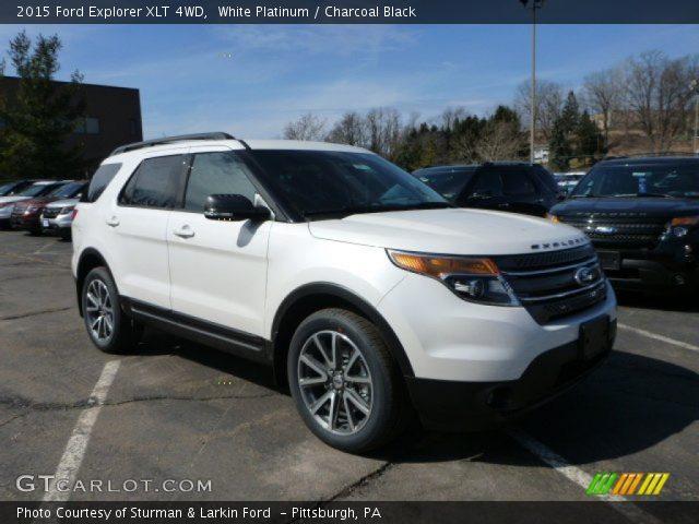 white platinum 2015 ford explorer xlt 4wd charcoal black interior vehicle. Black Bedroom Furniture Sets. Home Design Ideas
