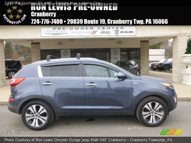 2013 Kia Sportage EX AWD in Twilight Blue