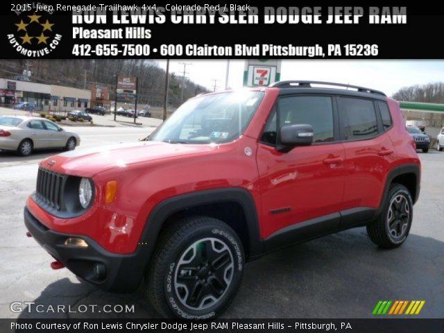 2015 Jeep Renegade Trailhawk 4x4 in Colorado Red
