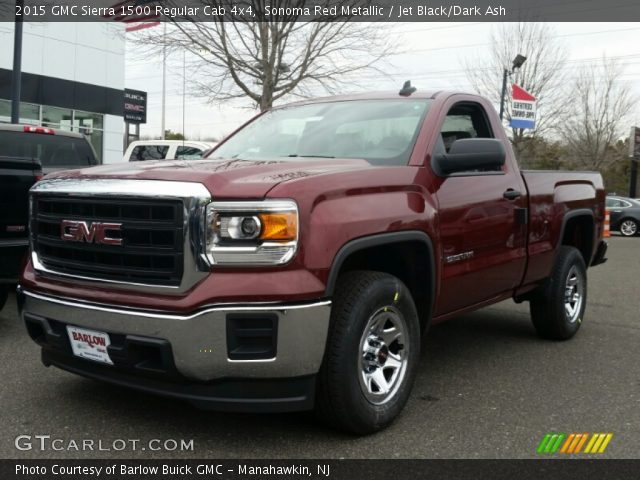 sonoma red metallic 2015 gmc sierra 1500 regular cab 4x4 jet black dark ash interior. Black Bedroom Furniture Sets. Home Design Ideas