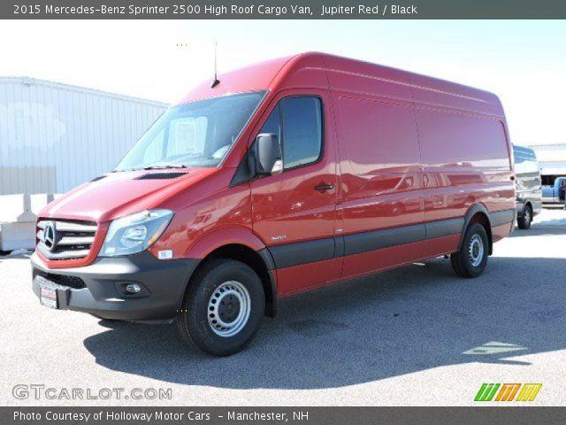 2015 Mercedes-Benz Sprinter 2500 High Roof Cargo Van in Jupiter Red