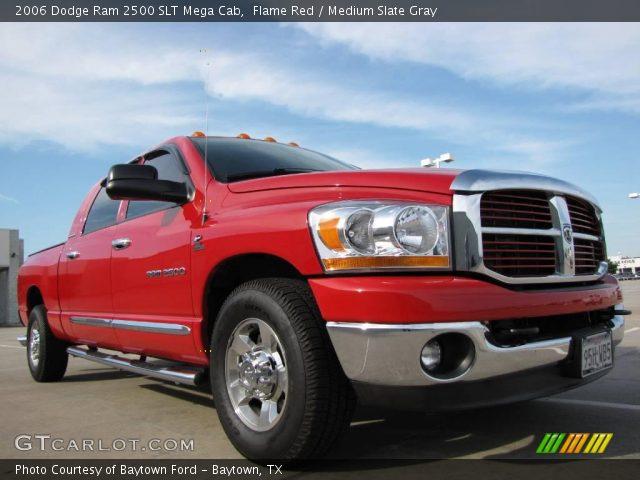 flame red 2006 dodge ram 2500 slt mega cab medium slate gray interior. Black Bedroom Furniture Sets. Home Design Ideas