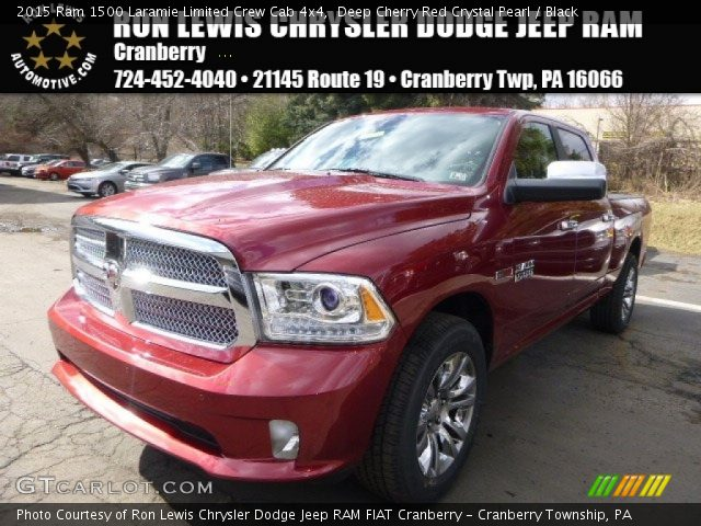 2015 Ram 1500 Laramie Limited Crew Cab 4x4 in Deep Cherry Red Crystal Pearl