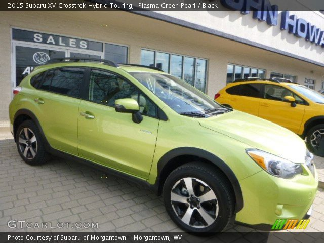 plasma green pearl 2015 subaru xv crosstrek hybrid touring black interior. Black Bedroom Furniture Sets. Home Design Ideas