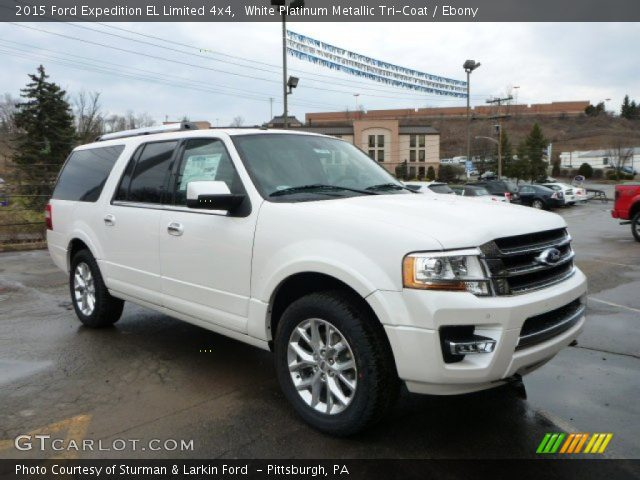 white platinum metallic tri coat 2015 ford expedition el limited 4x4 ebony interior. Black Bedroom Furniture Sets. Home Design Ideas