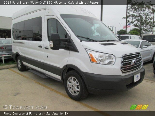 oxford white 2015 ford transit wagon xlt 350 hr long pewter interior. Black Bedroom Furniture Sets. Home Design Ideas
