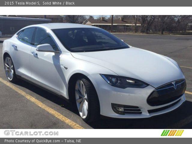 2015 Tesla Model S  in Solid White