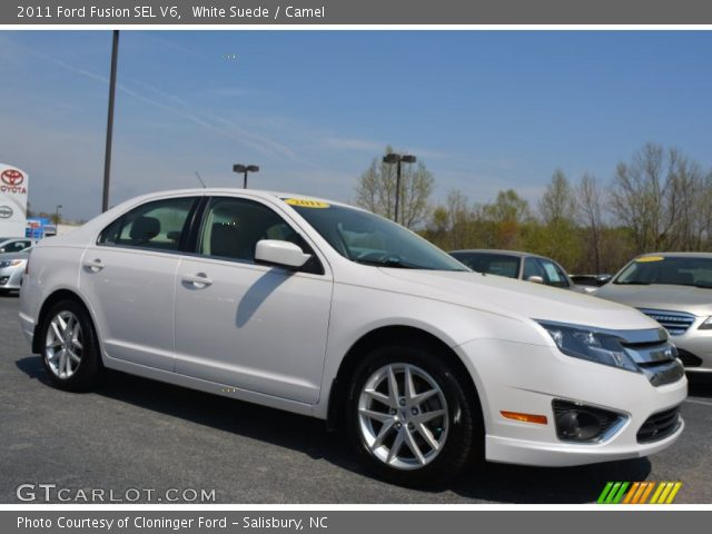 2011 Ford Fusion SEL V6 in White Suede