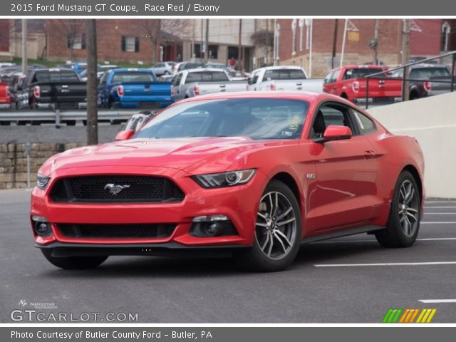 Race Red 2015 Ford Mustang Gt Coupe Ebony Interior Vehicle Archive 103020915