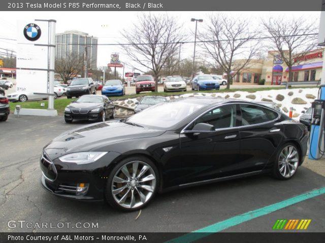 2013 Tesla Model S P85 Performance in Black