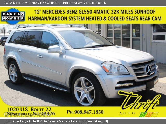 2012 Mercedes-Benz GL 550 4Matic in Iridium Silver Metallic
