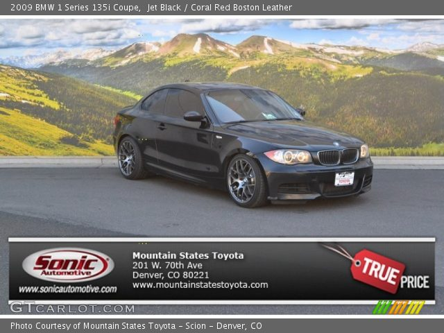 2009 BMW 1 Series 135i Coupe in Jet Black