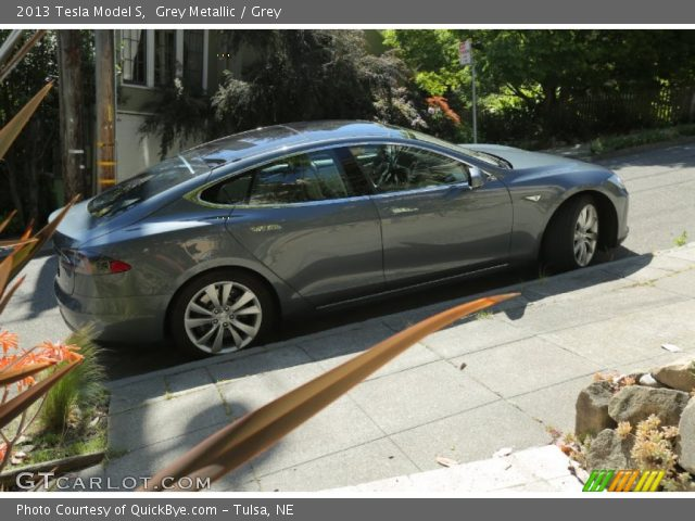 2013 Tesla Model S  in Grey Metallic
