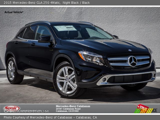 2015 Mercedes-Benz GLA 250 4Matic in Night Black