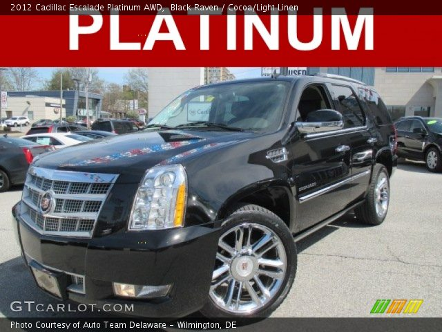 2012 Cadillac Escalade Platinum AWD in Black Raven