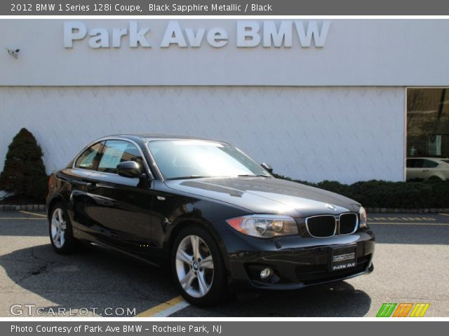 2012 BMW 1 Series 128i Coupe in Black Sapphire Metallic