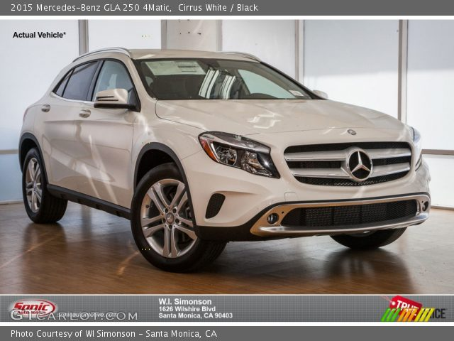 Cirrus white 2015 mercedes benz gla 250 4matic black for Mercedes benz gla 250 4matic
