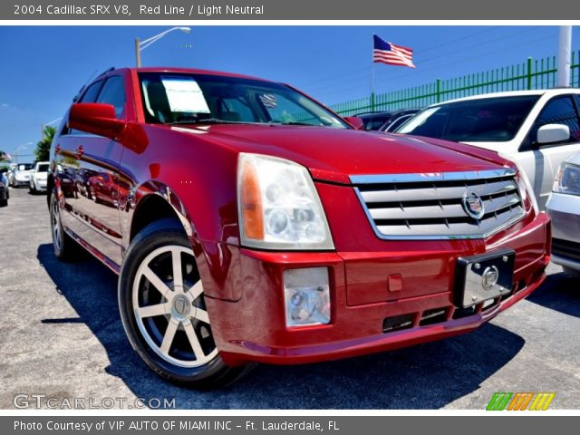 2004 Cadillac SRX V8 in Red Line