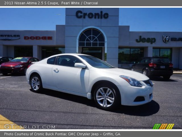 Pearl White 2013 Nissan Altima 2 5 S Coupe Charcoal