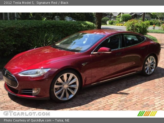 2012 Tesla Model S  in Signature Red