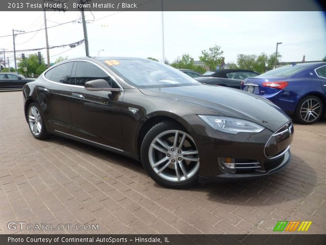 2013 Tesla Model S  in Brown Metallic
