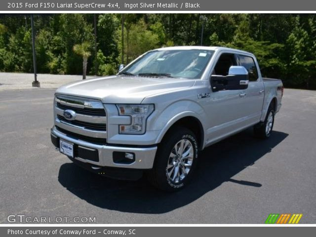 2015 Ford F150 Lariat SuperCrew 4x4 in Ingot Silver Metallic