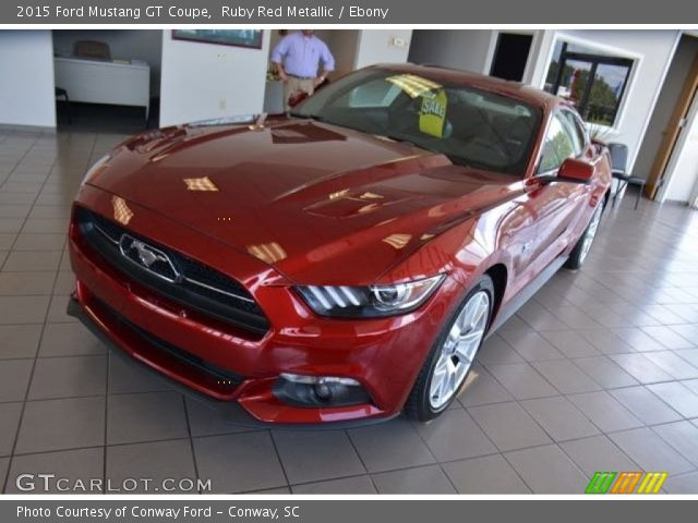 Ruby Red Metallic 2015 Ford Mustang Gt Coupe Ebony Interior Vehicle Archive