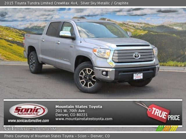 silver sky metallic 2015 toyota tundra limited crewmax 4x4 graphite interior. Black Bedroom Furniture Sets. Home Design Ideas
