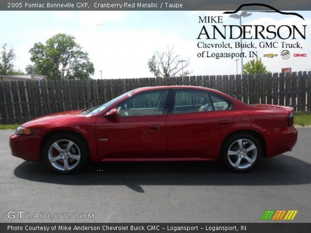 2005 Pontiac Bonneville GXP in Cranberry Red Metallic